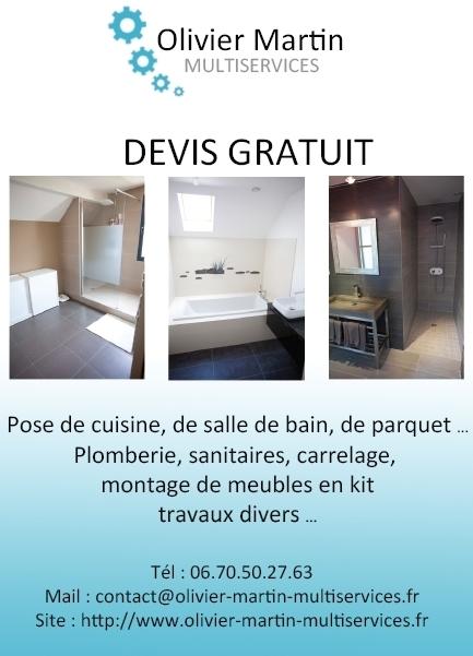 Oliver martin multiservices dijon pose de cuisine for Devis plomberie salle de bain